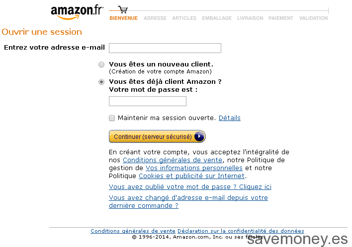 Purchase Process Amazon.fr