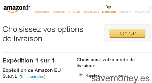 Proceso de compra Amazon.fr