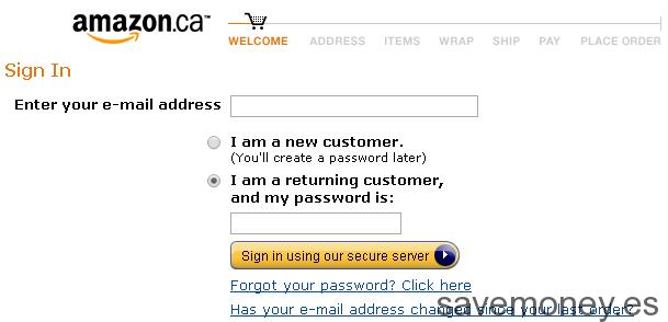 Como comprar en Amazon.ca
