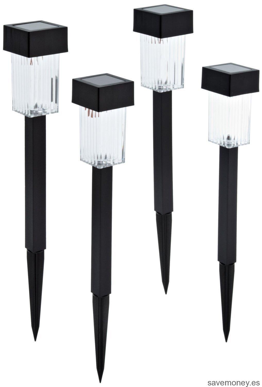 Farol de luz LED solar para jardín Best Season 477-36 (4 unidades)