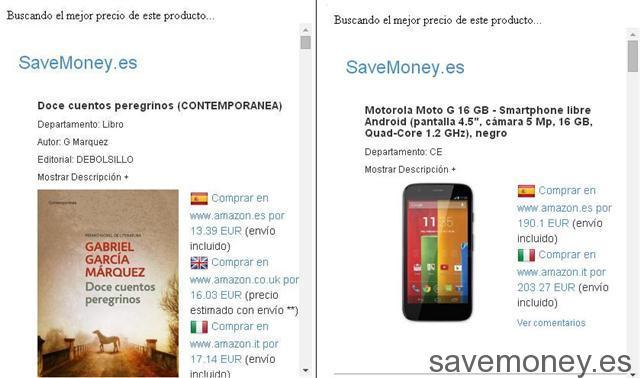 Extensión para Chrome de SaveMoney