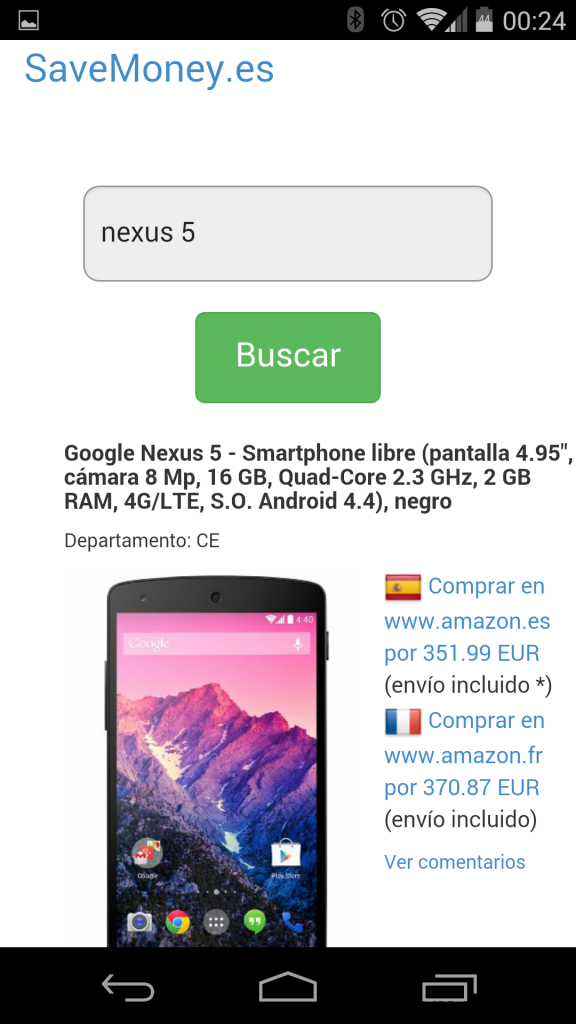 App SaveMoney.es para Android