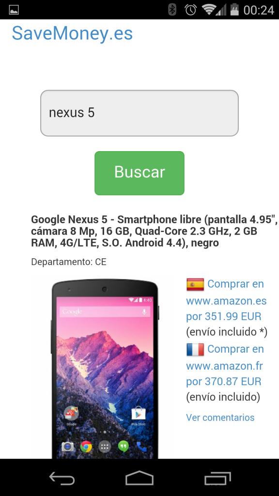 App SaveMoney.es para Android