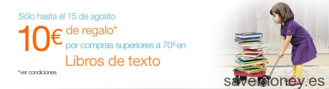 Compra tus libros de texto en Amazon y llévate un cheque regalo de 10€