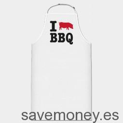 delantal de cocina I Love BBQ by Shirtcity