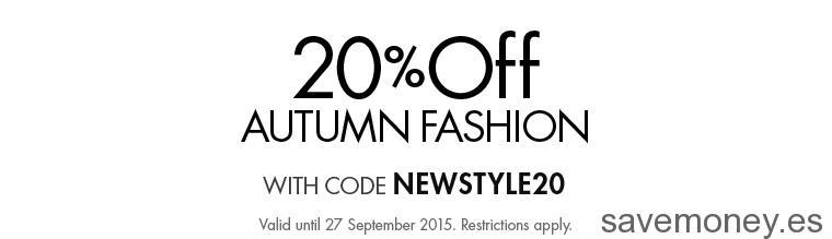 Cupón Descuento del 20% en Moda