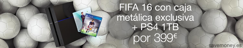 Oferta: PS4 de 1TB y FIFA 16 por sólo 399€