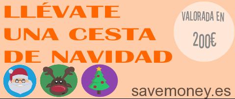 La Cesta de Navidad Savemoney puede ser tuya. ¡La regalamos!