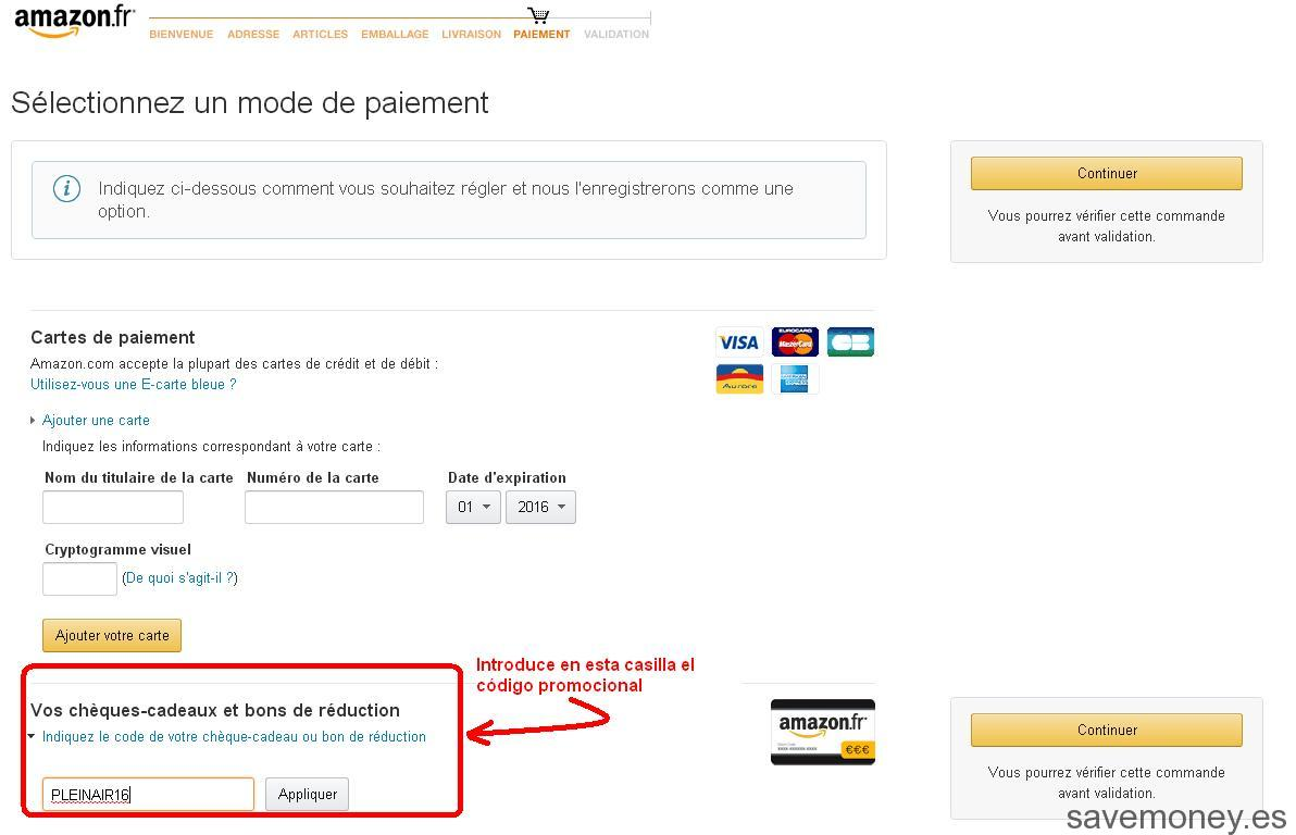 Codigo promocional electronica amazon