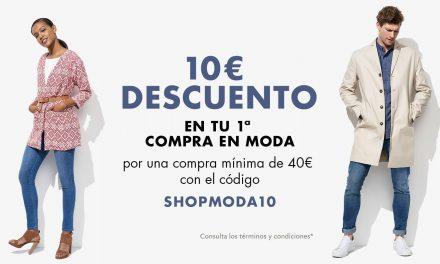 Cupón Descuento Amazon: 10€ en Moda