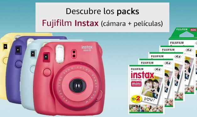 Ofertas Amazon: Packs Fujifilm Instax