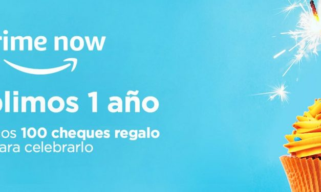 Prime Now: Consigue un Cheque Regalo por el Aniversario en Madrid