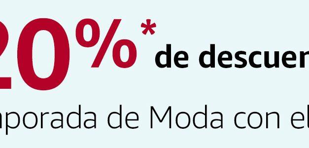 Cupón Descuento Amazon: 20% en Moda y Calzado