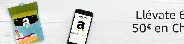 Cheques Regalo Amazon: Promocion de 6€