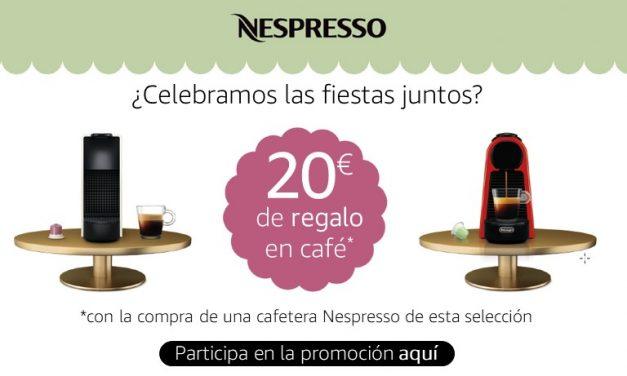 Promoción Amazon: 20€ en Capsúlas de Nespresso