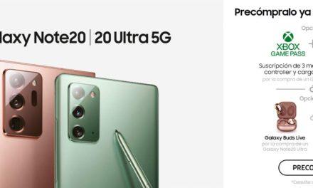 Oferta Samsung Galaxy Note20 y Note20 Ultra 5G