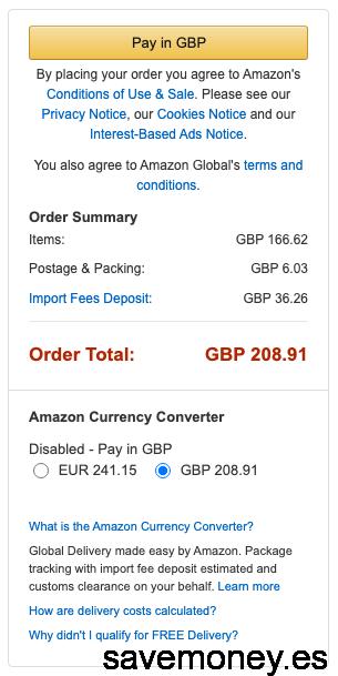 amazon Import Fees Deposit